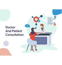 doctor and patient consultation vector image