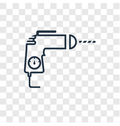 drill concept linear icon isolated on transparent vector image