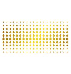 Drop gold halftone array vector