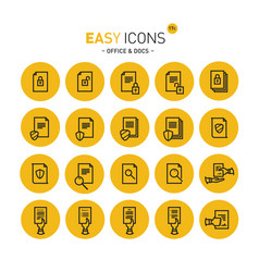 Easy icons 17c docs vector