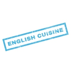 English Cuisine Rubber Stamp vector