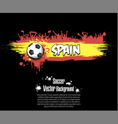flag of spain and football fans vector image