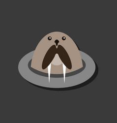 Flat icon design collection antarctic seals vector
