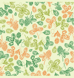 floral st patricks day light background vector image