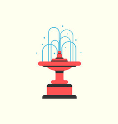 Fountain filled with water park decoration icon vector