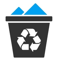 Full Recycle Bin Icon vector image