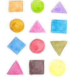 Geometric shape icons vector image