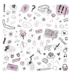 Grunge design set vector image