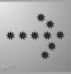 Hand drawn arrow set collection black vector