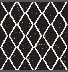 Hand-drawn rhombus lines geometric seamless vector