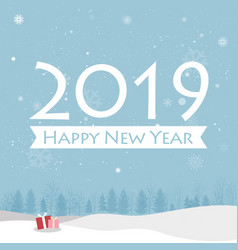 Happy new year 2019 card vector