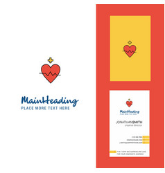 heart rate creative logo and business card vector image