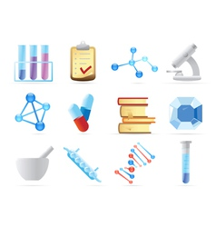 Icons for chemistry vector image