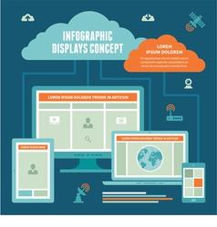 Infographic Displays Concept vector image