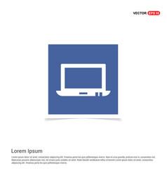 Laptop icon - blue photo frame vector