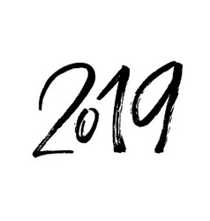 lettering 2019 drawn by hand vector image