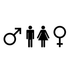 man and lady toilet icon isolated flat design vector image