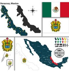 Map of Veracruz vector