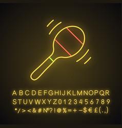 Maraca neon light icon vector