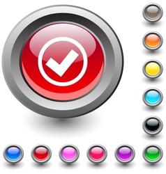 Mark round button vector