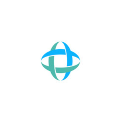 medical cross logo concept flat style vector image