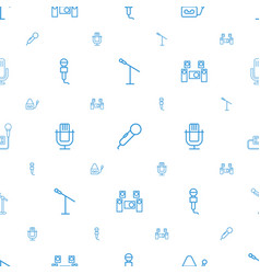 Mic icons pattern seamless white background vector