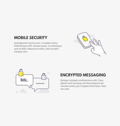 mobile security and encrypted messaging cyber vector image