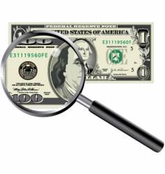 Money magnifier vector