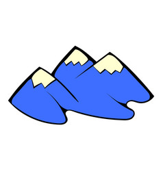 mountain icon cartoon vector image