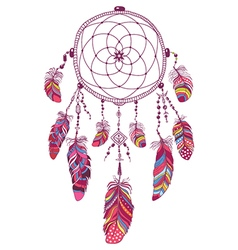 Native American Indian Talisman Dream Catcher vector image