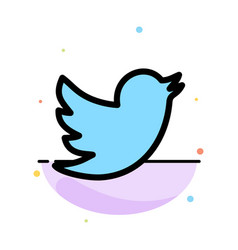 Network social twitter abstract flat color icon vector
