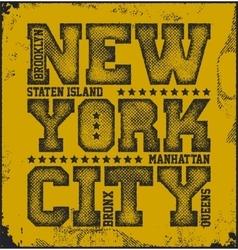 New york city typography graphics vector