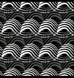 Of white and black warped vector