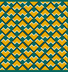 Optical seamless pattern yellow corners vector