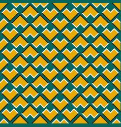 Optical seamless pattern yellow corners vector