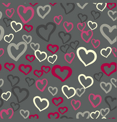 Pink hearts seamless tile valentines day vector