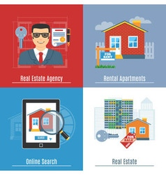 Real Estate Flat Concepts vector image