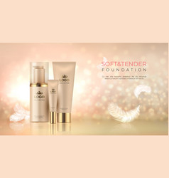 realistic luxury cosmetic background skin care vector image