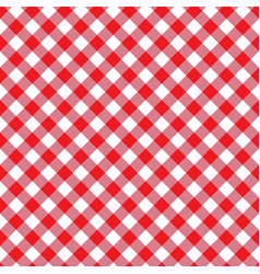 Red seamless table cloth texture diagonal lines vector