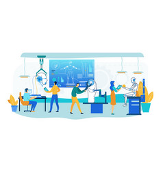 robot building technology humanoid design office vector image