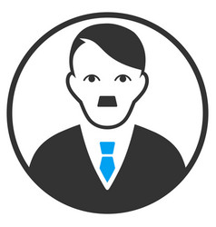 Rounded man portrait flat icon vector