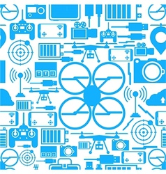 Seamless background for quadrocopter set vector