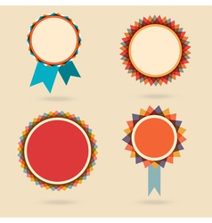 Set of four vintage award bagdes vector image