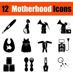 Set of motherhood icons vector