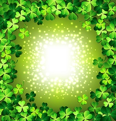Shamrock frame for St Patricks day card vector image