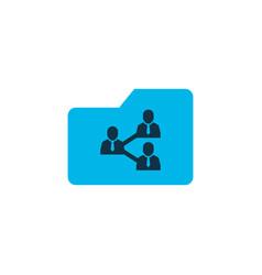 shared folder icon colored symbol premium quality vector image