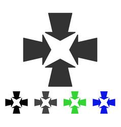 Shrink arrows flat icon vector