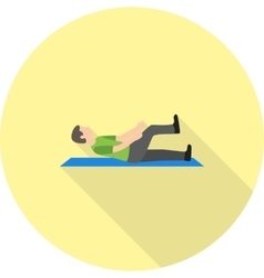 Sitting and Stretching vector