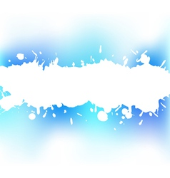 splash of a white paint vector image