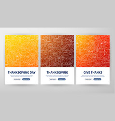 Thanksgiving flyer concepts vector
